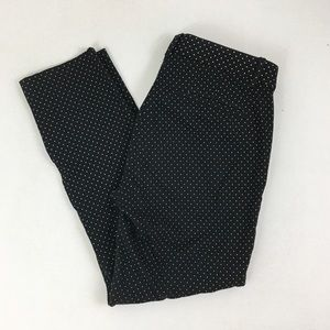 GAP Black Polka Dot Skinny Ankle Pants